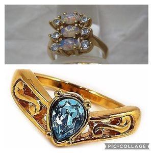 TWO •lovely• Vintage Avon Rings